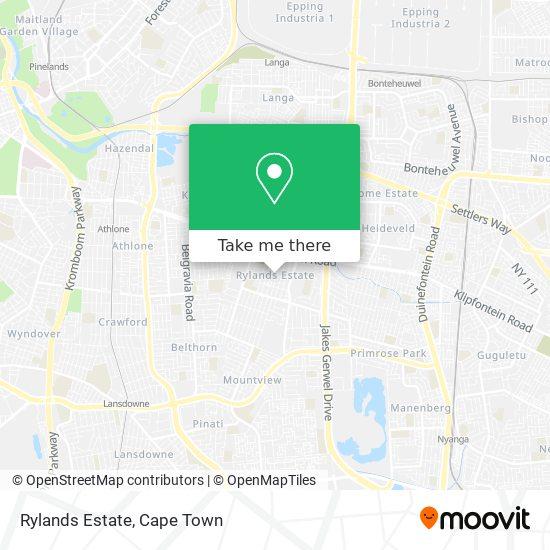 Rylands Estate map
