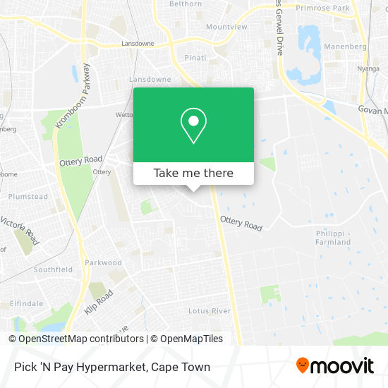 Pick 'N Pay Hypermarket map