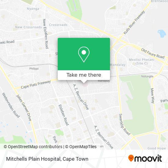 Mitchells Plain Hospital map