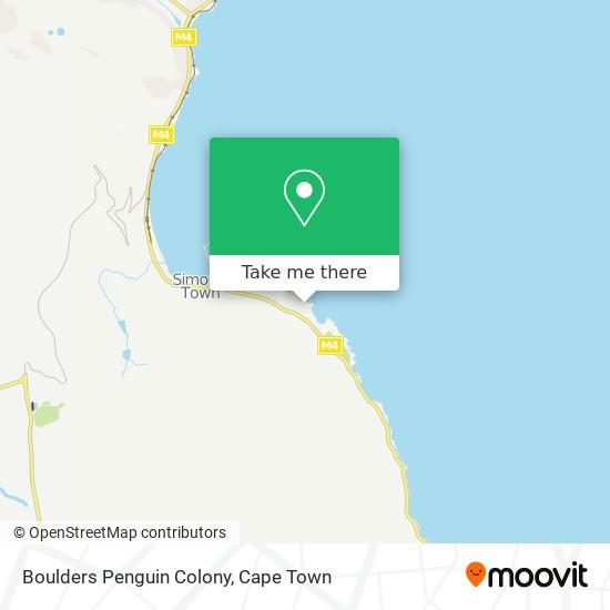 Boulders Penguin Colony map