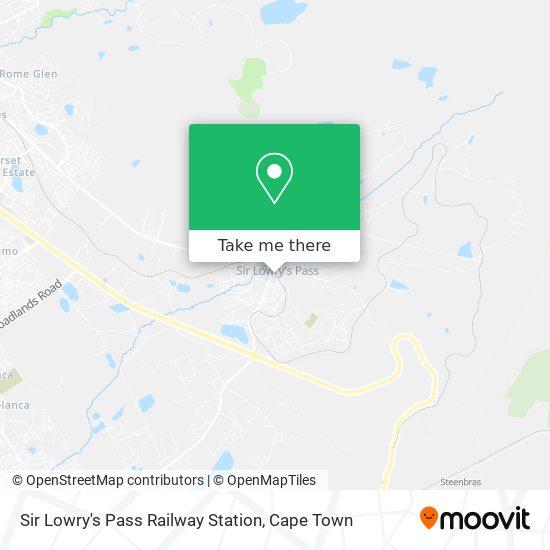 Sir Lowry's Pass Railway Station map