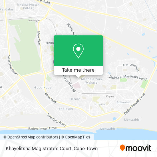 Khayelitsha Magistrate's Court map