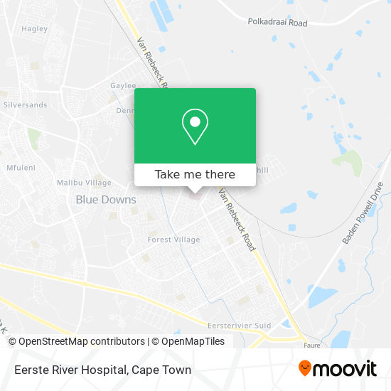 Eerste River Hospital map