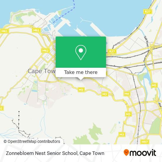 Zonnebloem Nest Senior School map