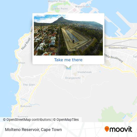 Molteno Reservoir map