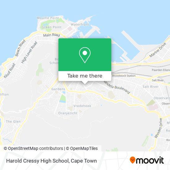 Harold Cressy High School map