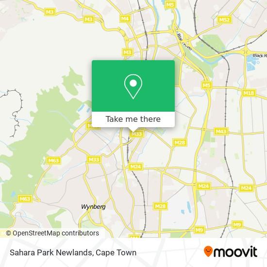 Sahara Park Newlands map