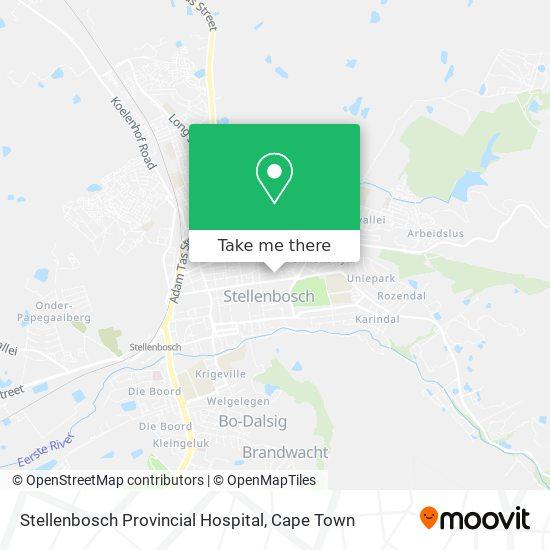 Stellenbosch Provincial Hospital map