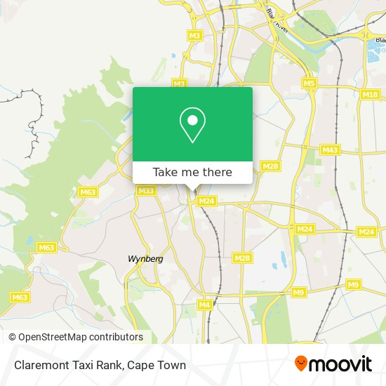 Claremont Taxi Rank map