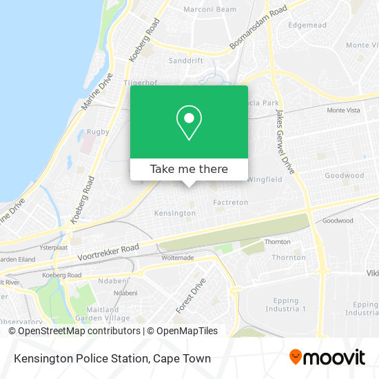 Kensington Police Station map