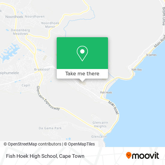 Fish Hoek High School map