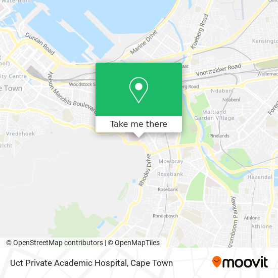 Uct Private Academic Hospital map