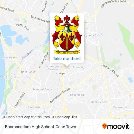 Bosmansdam High School map