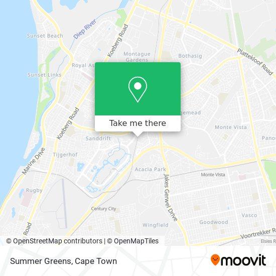 Summer Greens Station map