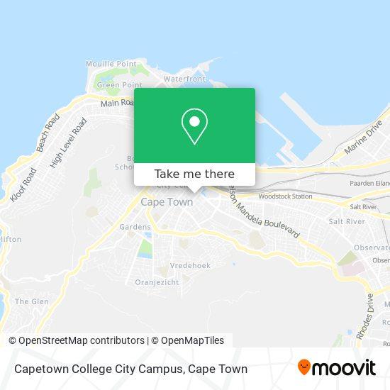 Capetown College City Campus map
