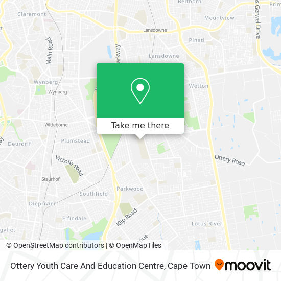 Ottery Youth Care And Education Centre map