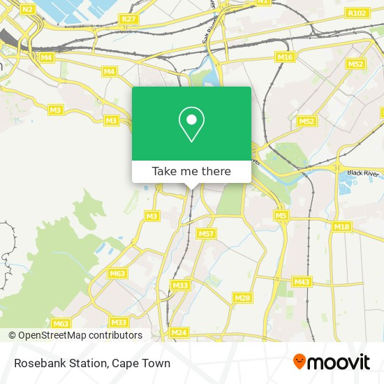 Rosebank Station map