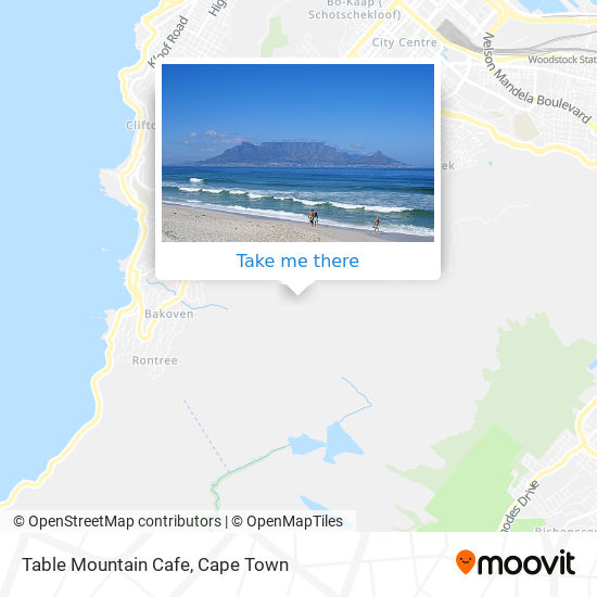 Table Mountain Cafe map