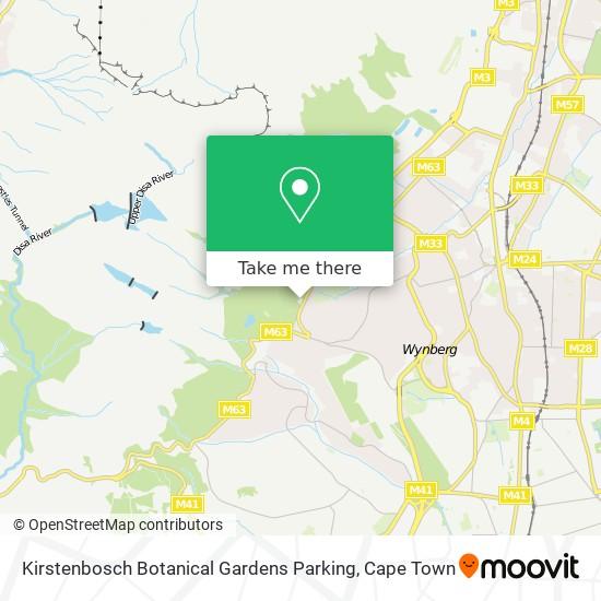 Kirstenbosch Botanical Gardens Parking map
