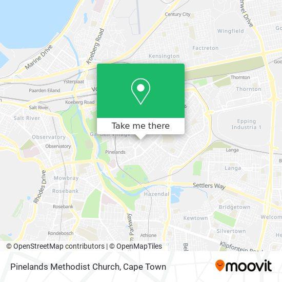 Pinelands Methodist Church map