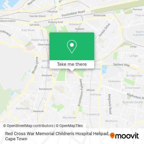 Red Cross War Memorial Children's Hospital map