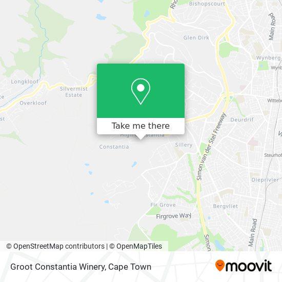Groot Constantia Winery map