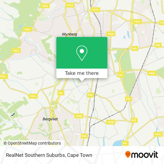 RealNet Southern Suburbs map