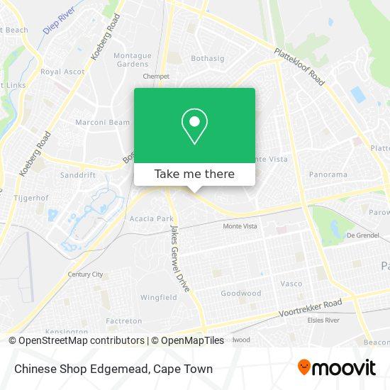 Chinese Shop Edgemead map