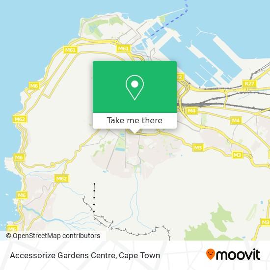 Accessorize Gardens Centre map