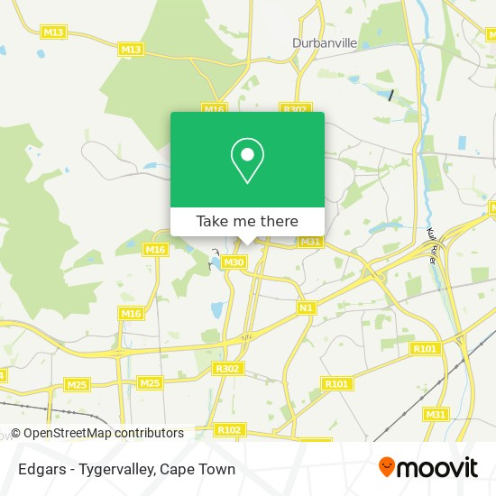 Edgars - Tygervalley map