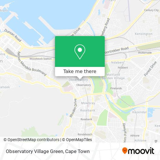 Observatory Village Green map
