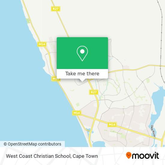 West Coast Christian School map