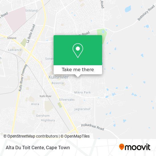 Alta Du Toit Cente map
