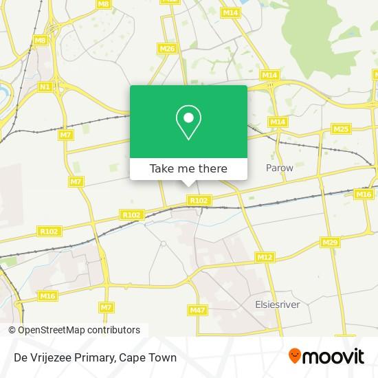 De Vrijezee Primary map