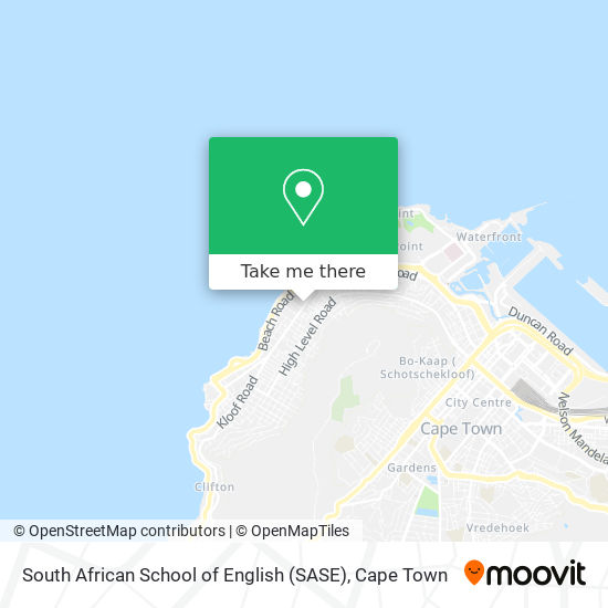 South African School of English (SASE) map