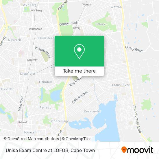 Unisa Exam Centre at LOFOB map
