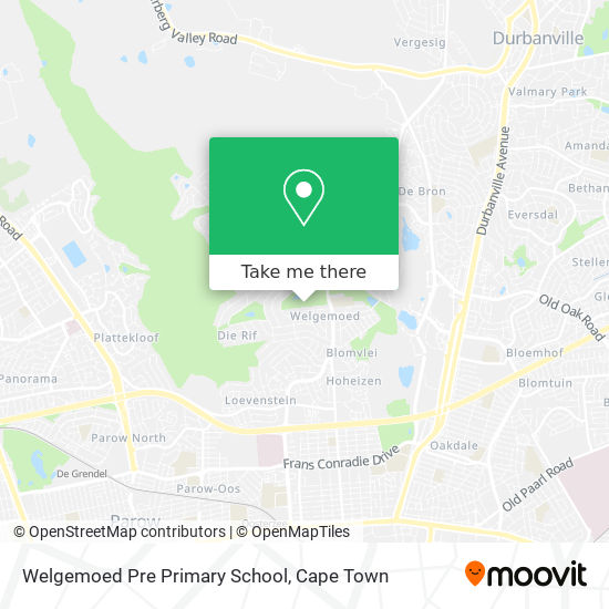 Welgemoed Pre Primary School map