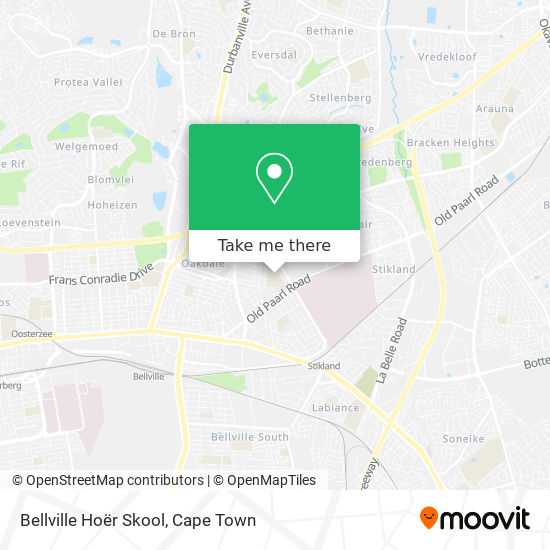 Bellville Hoër Skool map