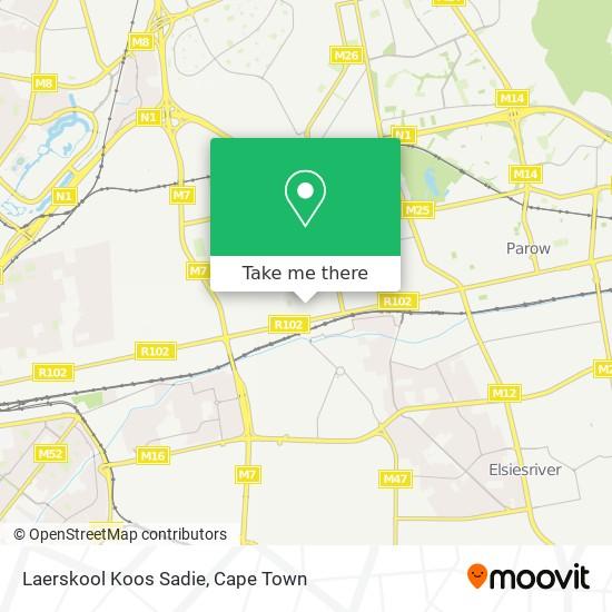 Laerskool Koos Sadie map