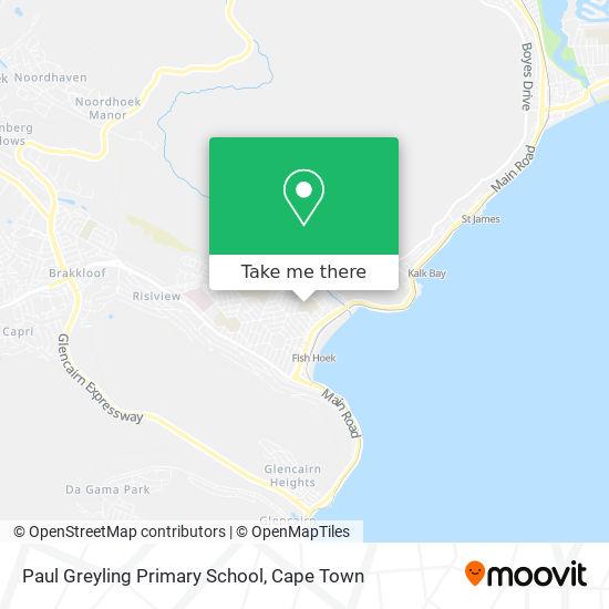 Paul Greyling Primary School map