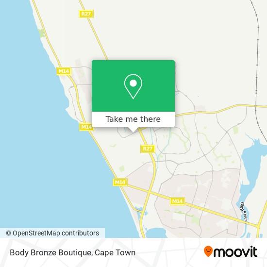 Body Bronze Boutique map