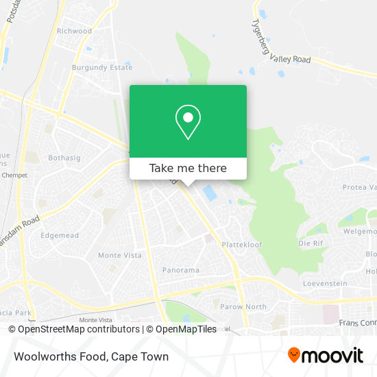 Woolworths Food map