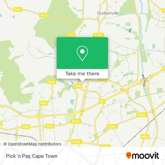 Pick 'n Pay map