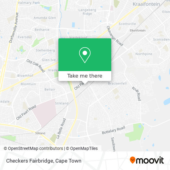 Checkers Fairbridge map