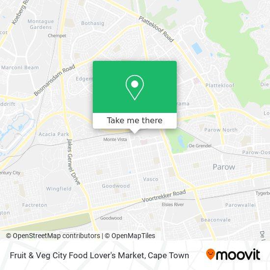 Fruit & Veg City Food Lover's Market map