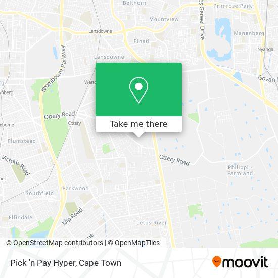 Pick 'n Pay Hyper map