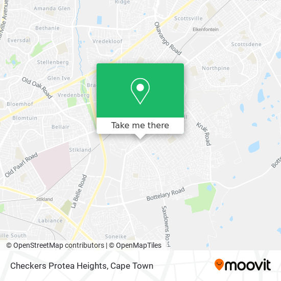 Checkers Protea Heights map