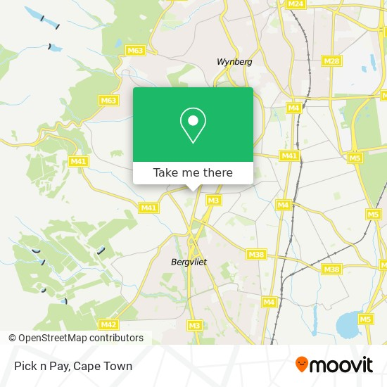 Pick n Pay map