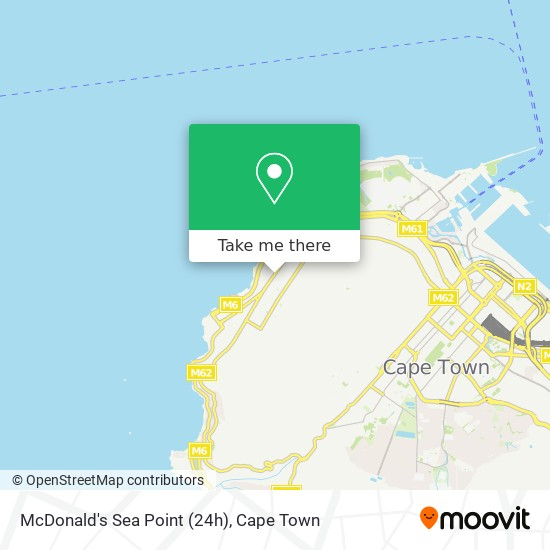 McDonald's Sea Point (24h) map