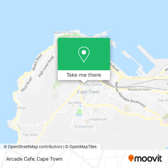 Arcade Cafe map